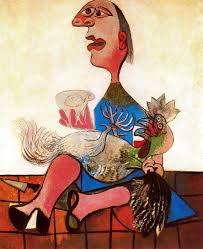 Women with Rooster